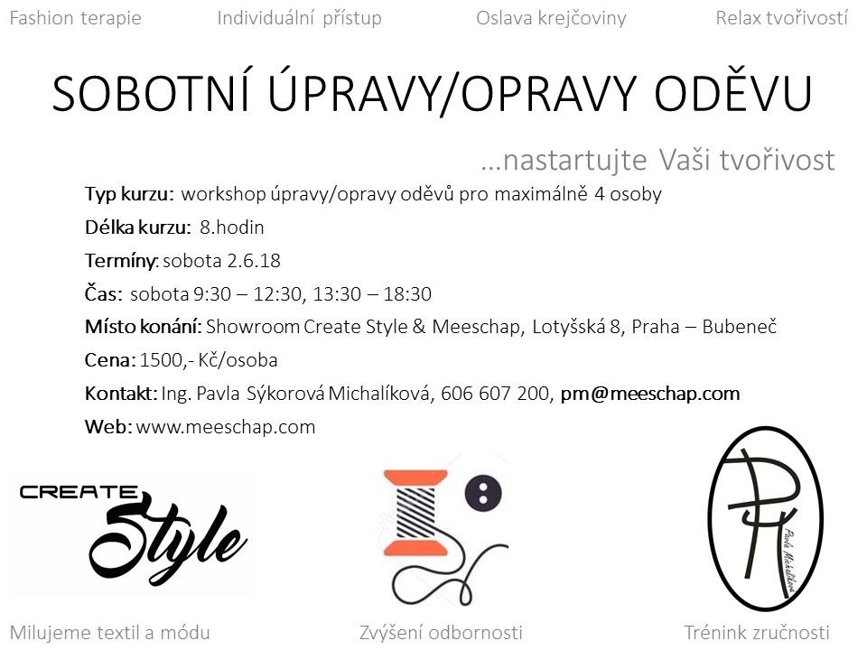 Sobotní úpravy oděvů Praha